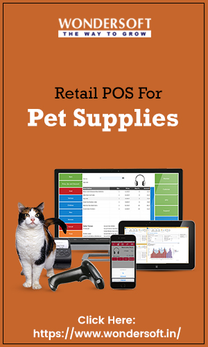 Retail Point of sale software for Pet shops on display.